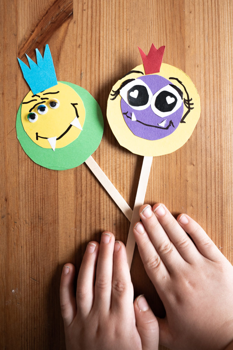 DIY colorful monster cupcake toppers