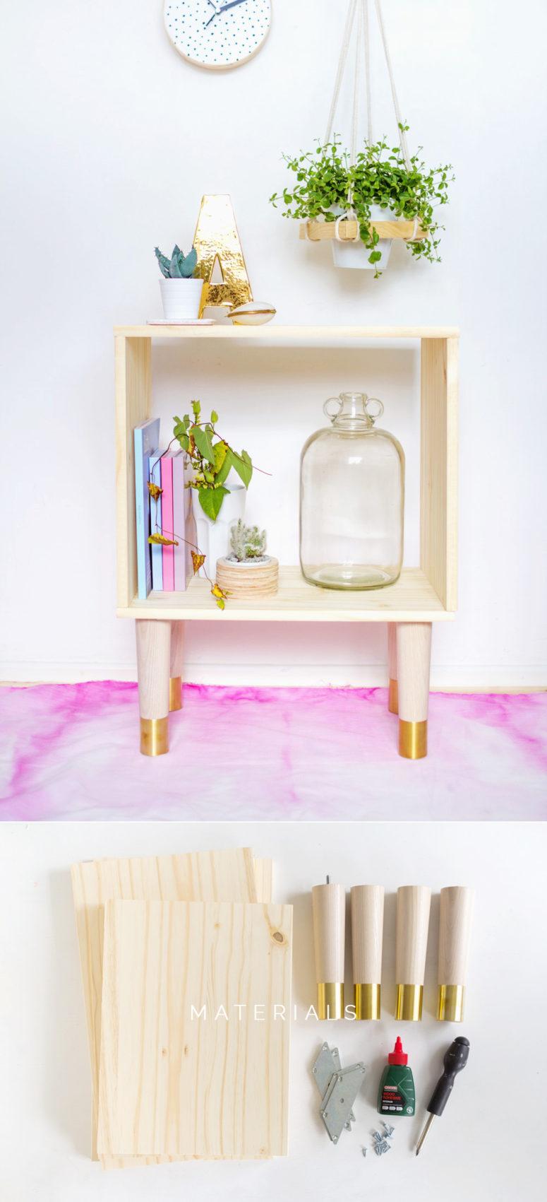 DIY box sideboard with gilded legs (via fallfordiy.com)