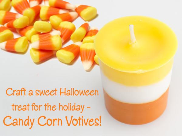 DIY candy corn votives for Halloween (via library.rusticescentuals.com)