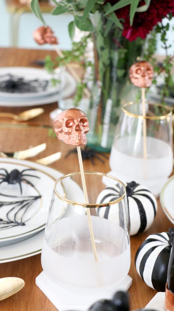 DIY copper skull drink stirrers (via akailochiclife.com)