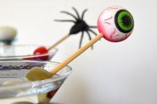 DIY scary Halloween cocktail stirrers