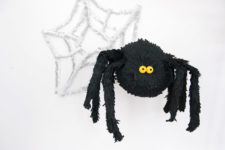 DIY funny black spider pinata for Halloween parties