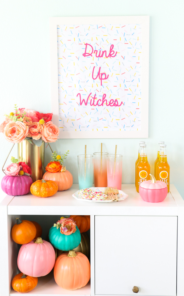 DIY colorful gals' party Halloween sign