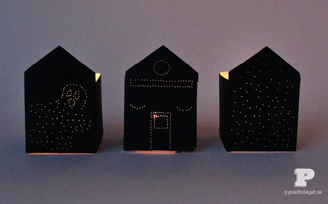 DIY haunted Halloween house luminaries
