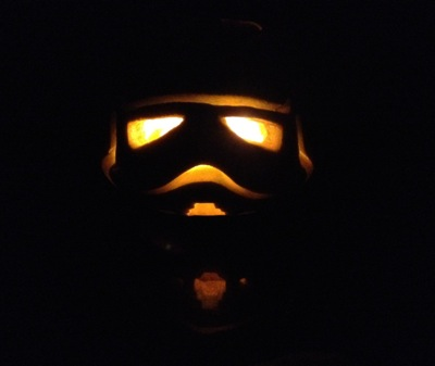 DIY carved stormtrooper pumpkin for Halloween (via www.starwars.com)