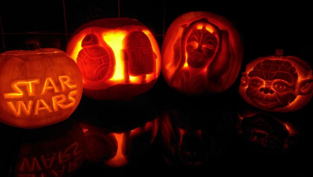 DIY 3D carved Star Wars pumpkins for Halloween