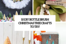 10 diy bottle brush christmas tree crafts to try cover