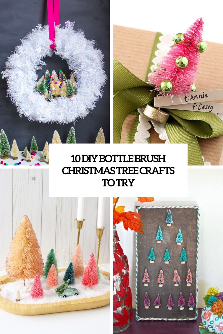 diy bottle brush christmas tree crafts to try cover
