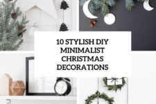 10 stylish diy minimalist christmas decorations cover