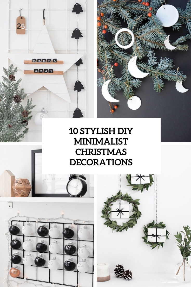 10 Stylish DIY Minimalist Christmas Decorations