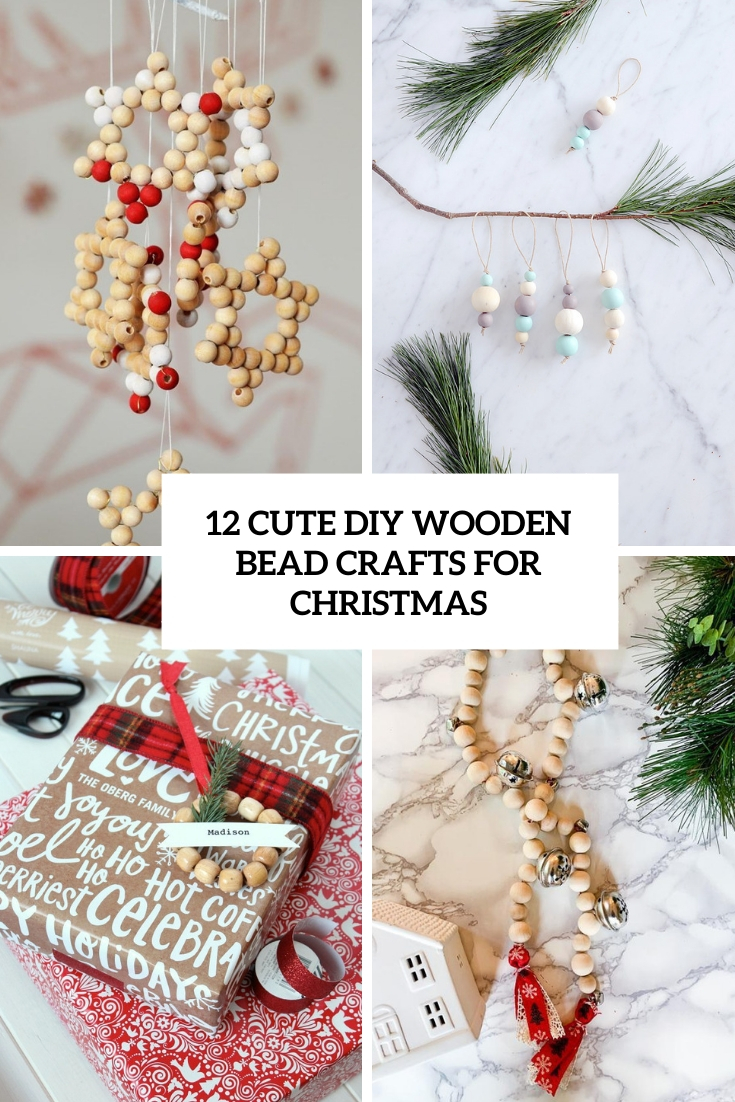 cute diy wooden bead crafts for christmas cover
