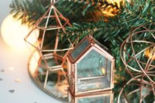 23 copper wire Christmas decorations and a mini house box for jewelry make up cool holiday decor and even gifts