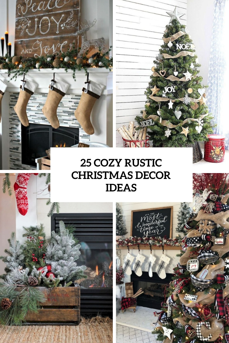 cozy rustic christmas decor ideas cover