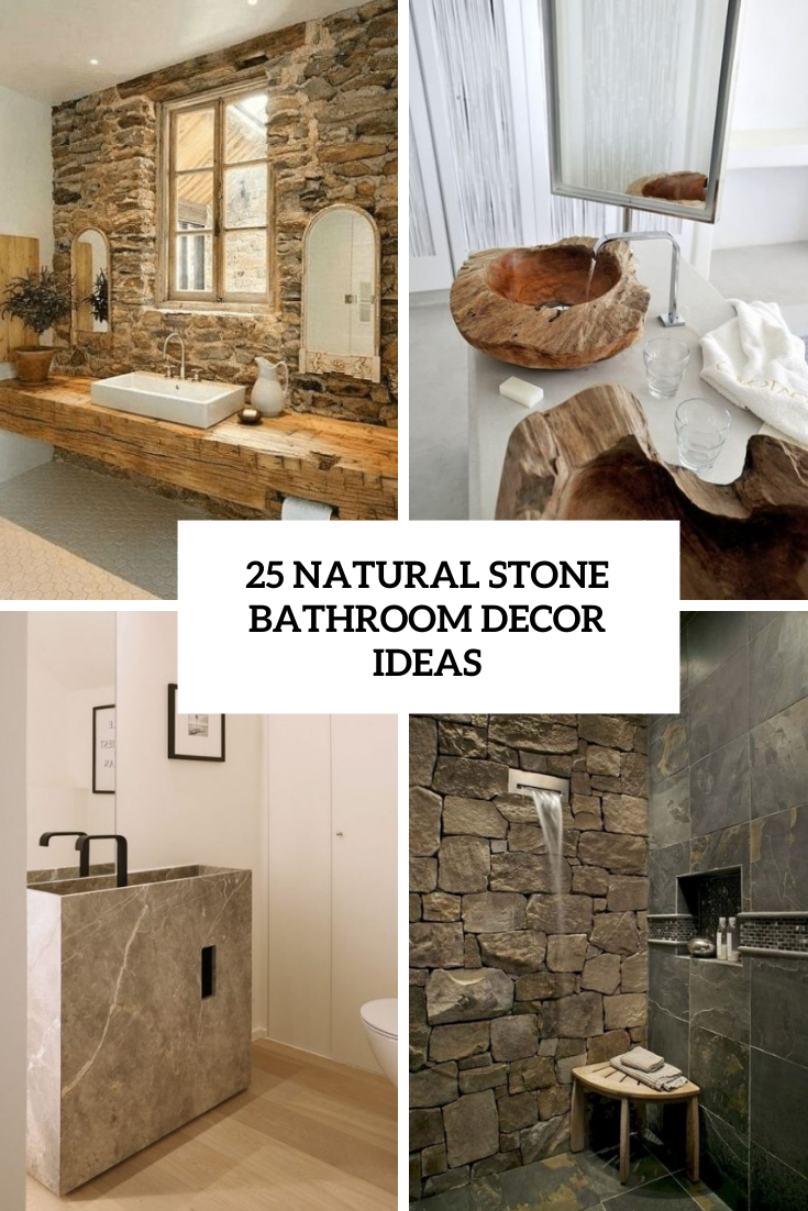 natural stone bathroom decor ideas cover