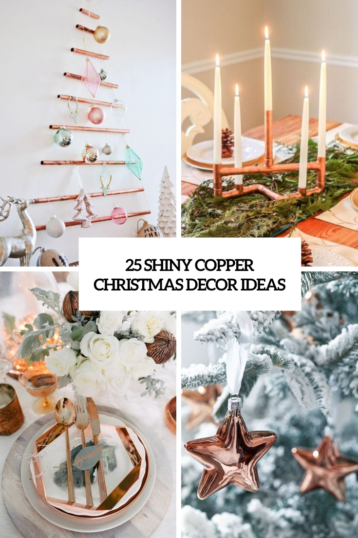 shiny copper christmas decor ideas cover