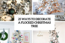 25 ways to decorate a flocked christmas tree cover