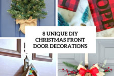 8 unique diy christmas front door decorations cover