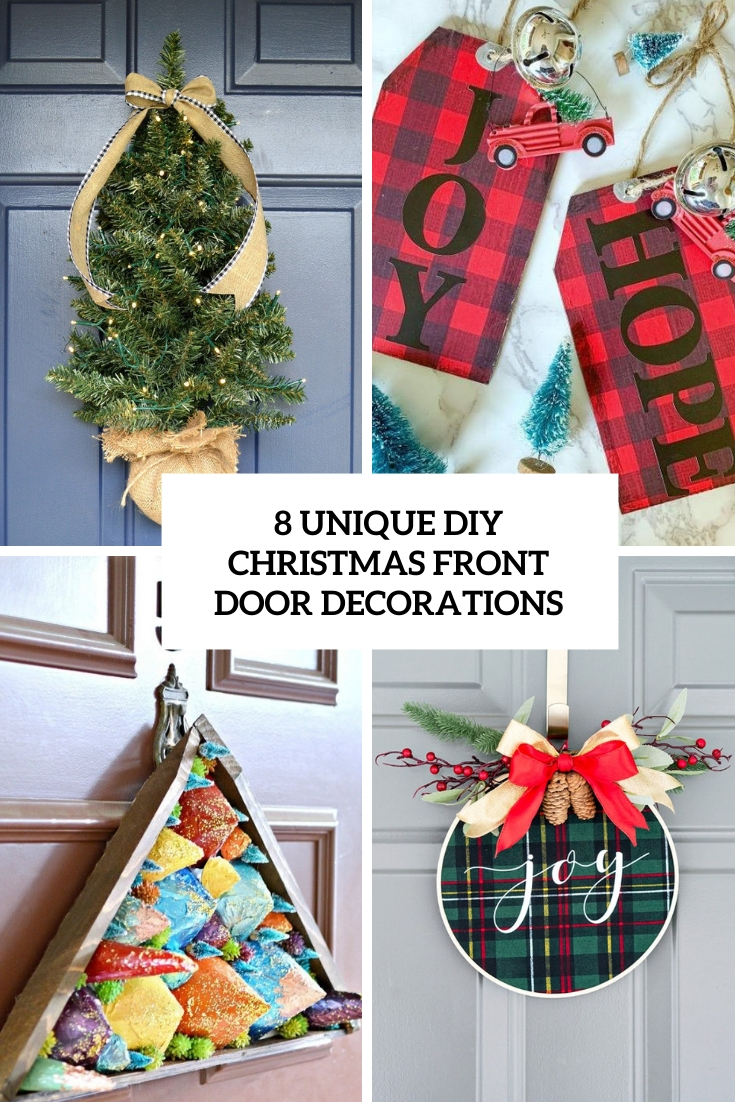 8 Unique DIY Christmas Front Door Decorations