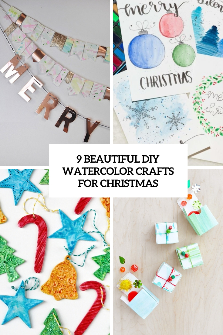 9 beautiful diy watercolor crafts for christmas cover