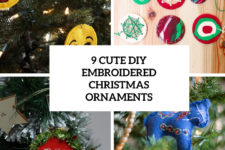 9 cute diy embroidered christmas ornaments cover