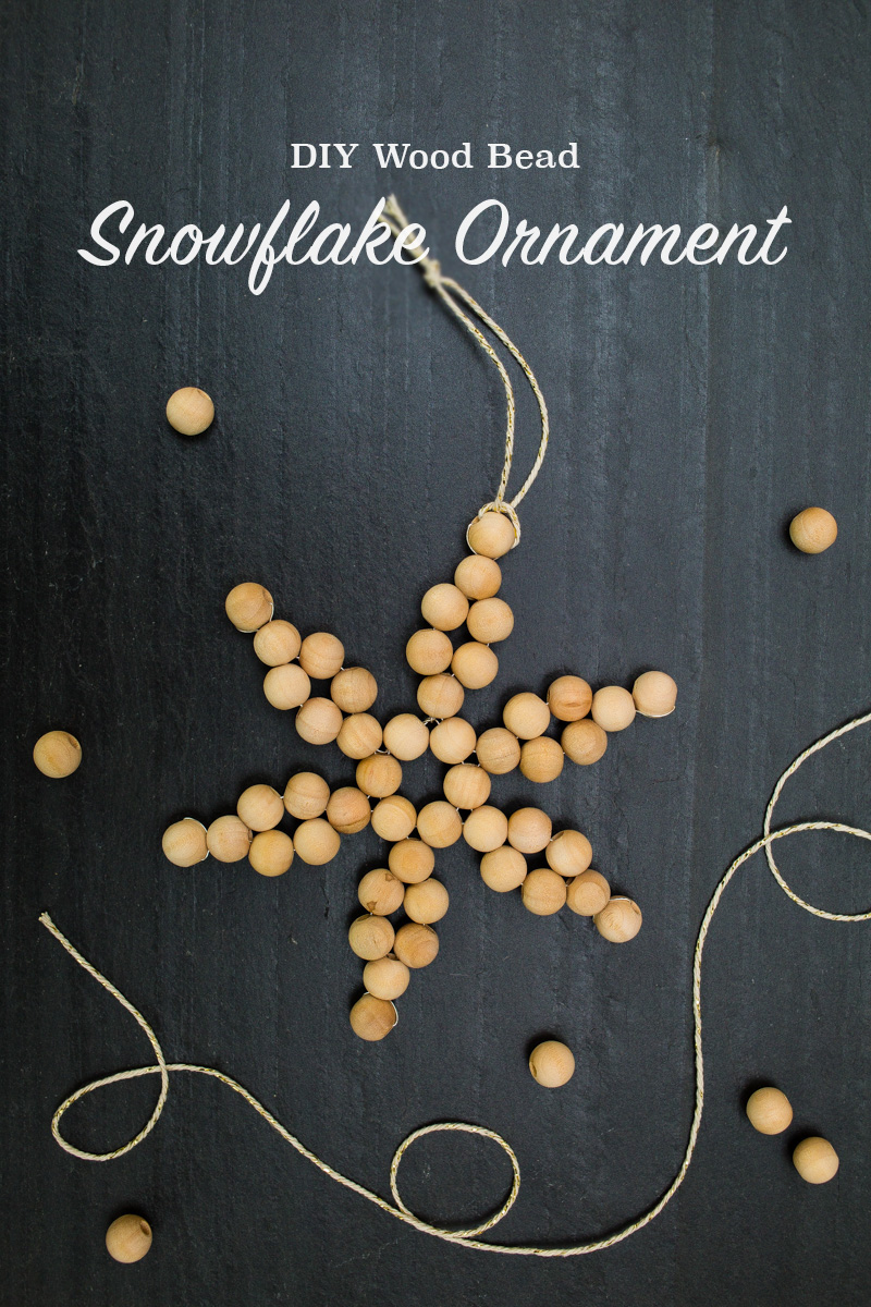 DIY wooden bead snowflake ornaments for Christmas