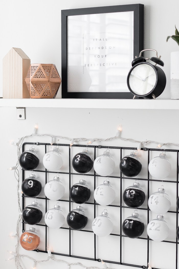 DIY minimalist advent calendar and IKEA hack (via www.thebeautydojo.com)