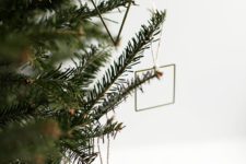 DIY geometric Christmas ornaments