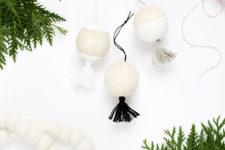 DIY wooden tassel Christmas ornaments