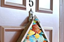 DIY modern colorful Christmas front door sign
