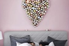 06 create a beautiful ornament heart-shaped decoration for your bedroom using VINTER baubles 35