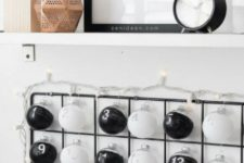 10 an IKEA trellis and some clear balls can be turned into a Scandinavian advent calendar is easy to make anytime
