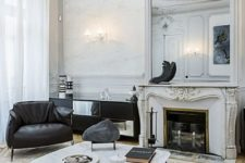 Parisian way to rock mouldings on walls and ceilings