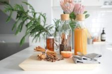 18 get some IKEA 365+ carafes to create a warm and cozy cider station for these holidays and it will fit fall, too