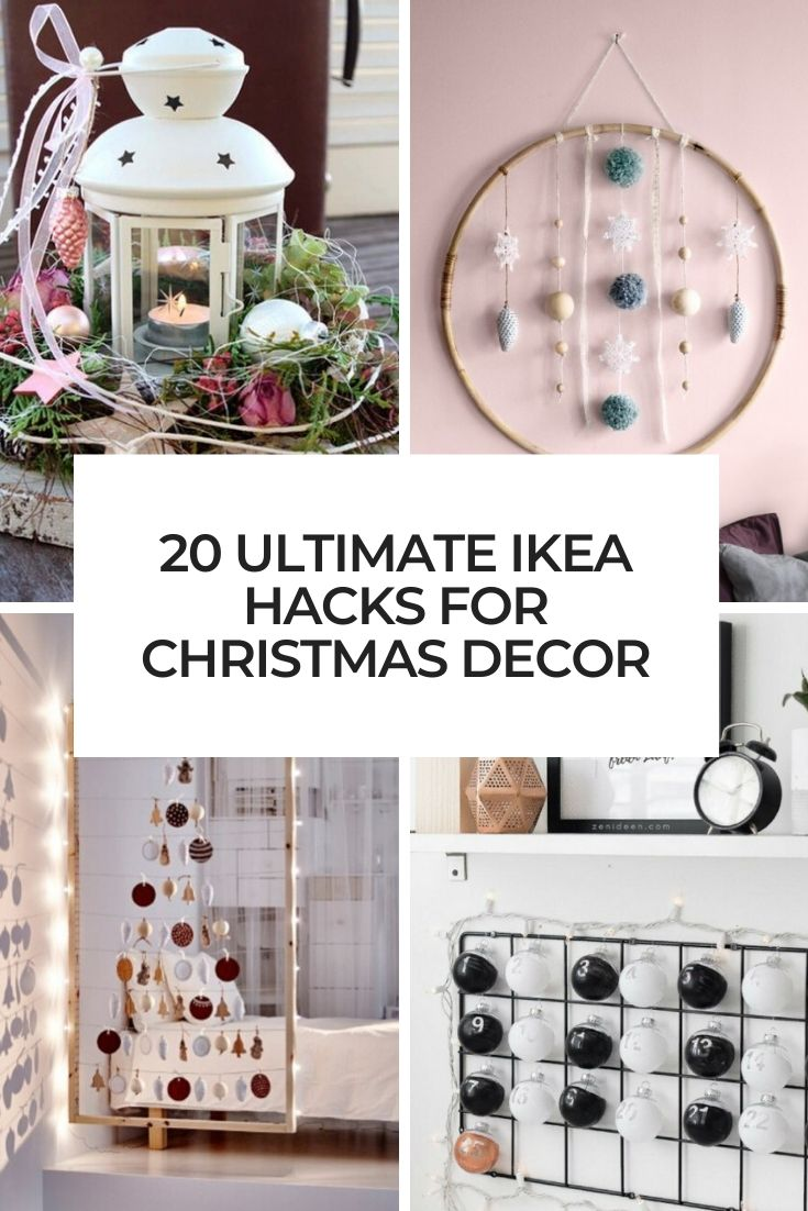 ultimate ikea hacks for christmas decor cover