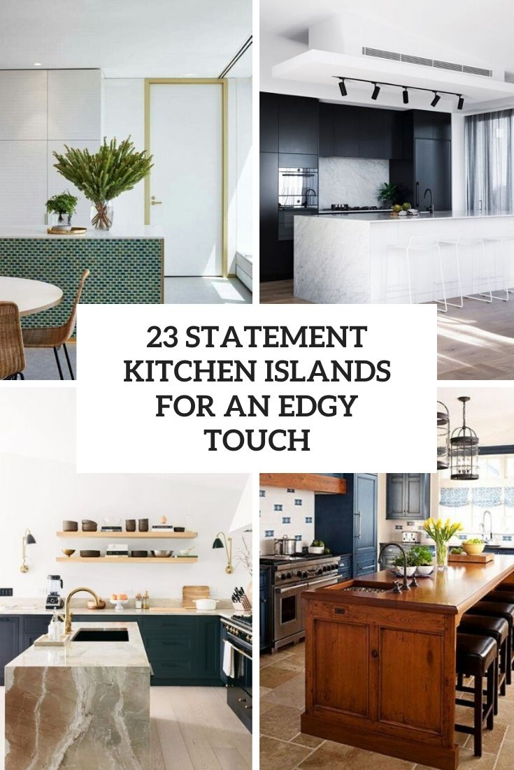 statement kitchen islands for an edgy touch cover