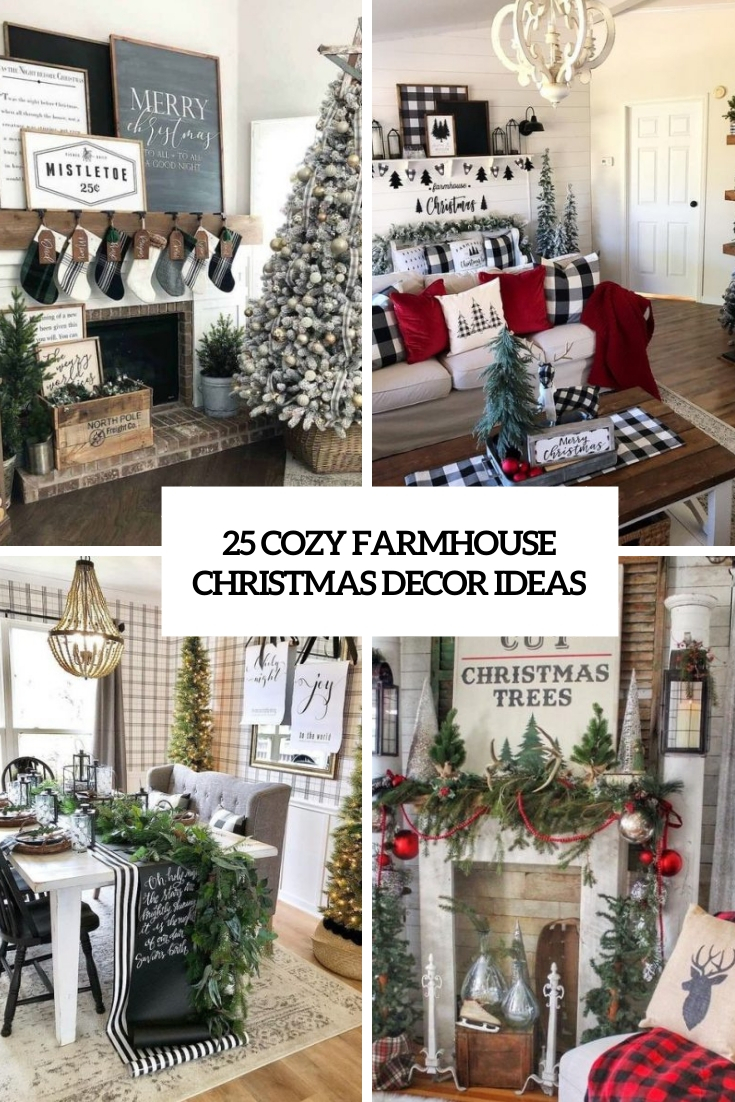 cozy farmhouse christmas decor ideas cover