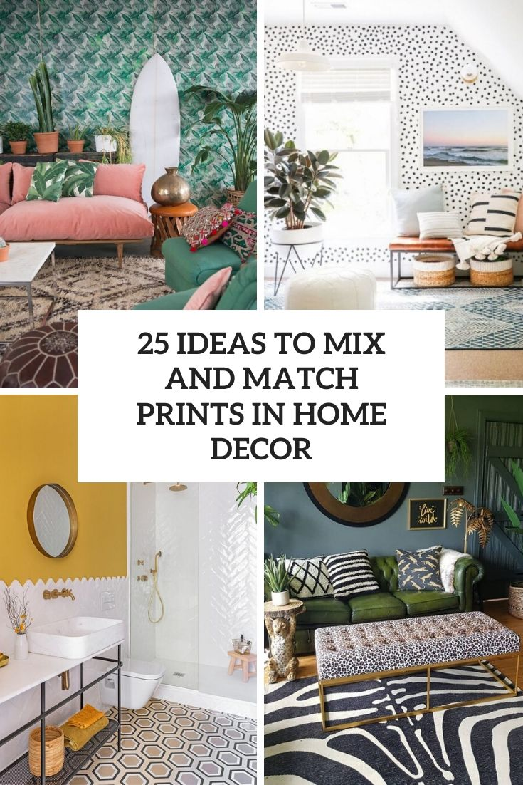 25 Ideas To Mix And Match Prints In Home Décor