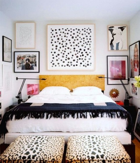 spot and leopard prints are done in the same color palette and echo with each other for a cohesive look