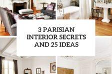 3 parisian interior secrets and 25 ideas cover
