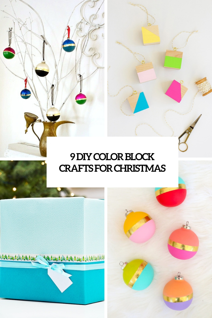 9 DIY Color Block Crafts For Christmas