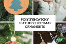 9 diy eye-catchy leather christmas ornaments cover