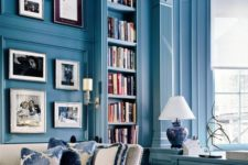 05 paint your walls in classic blue to make your living room ultimately chic and elegant