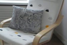 16 an IKEA Poang chair hacked with stamping – welcome to the cloud nine