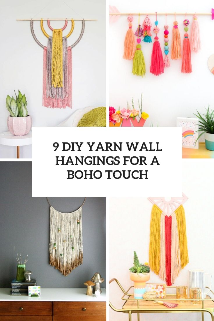 9 diy yarn wall hangings for a boho touch cover