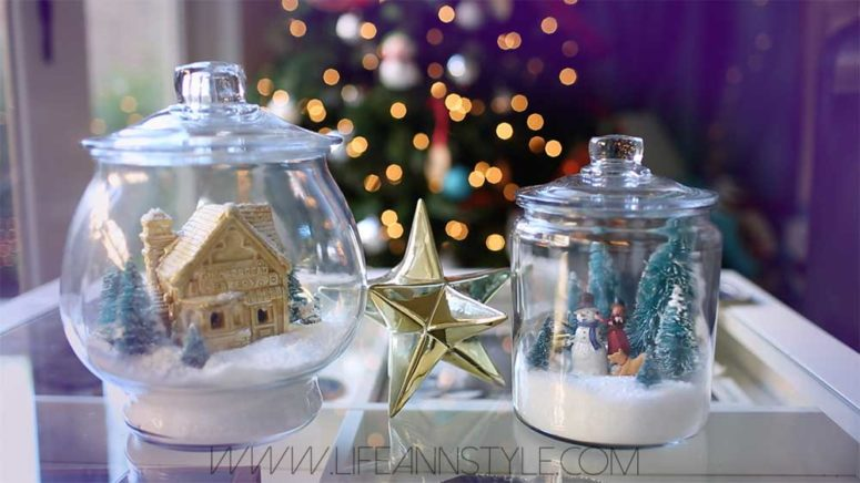 DIY winter terrariums that are giant snowglobes (via annlestyle.com)