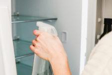 DIY disinfectant spray for fridges