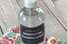 DIY disinfectant spray of only essential oils