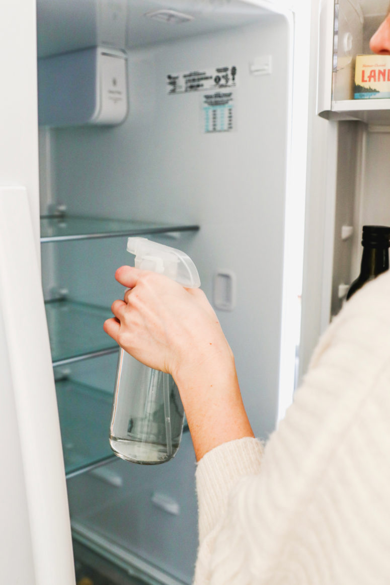 DIY disinfectant spray for fridges  (via hellonest.co)