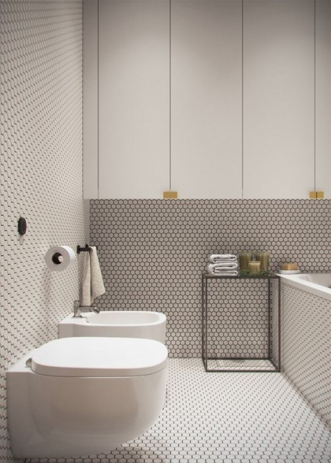 25 Edgy Penny Tiles Ideas For Your Bathroom Shelterness