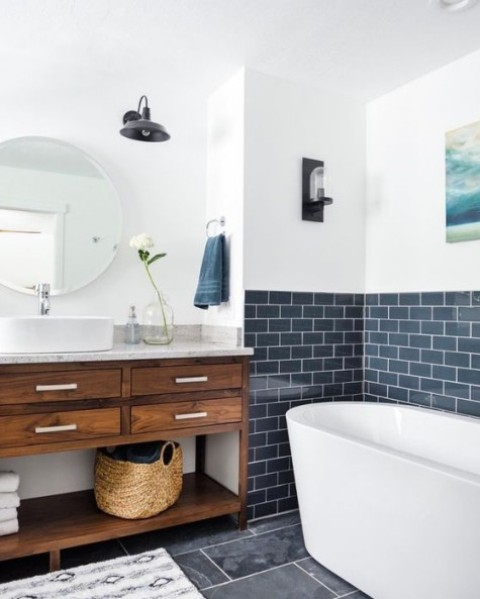 25 Subway Tile Ideas For Your Bathroom Shelterness